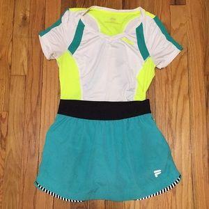 FILA Skirt and Top Set